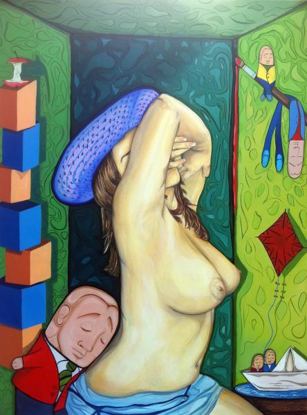 """""""Mas haya de los deseos""""  2010  30"""" x 40"""" Oil on canvas    Private collection"""