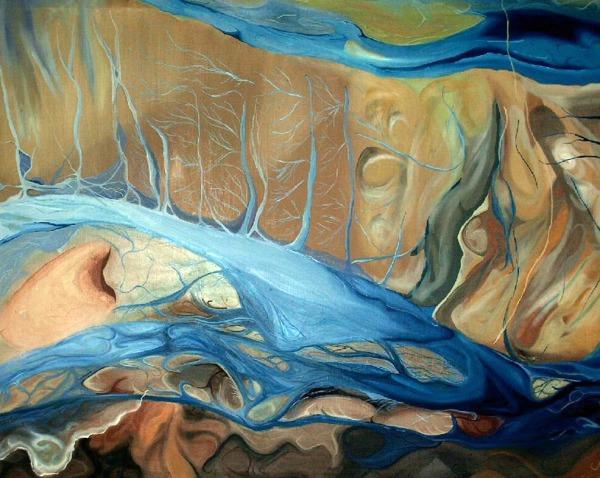 """Raices"" 2004   42""x 40""  Oil on canvas   Price: SOLD"