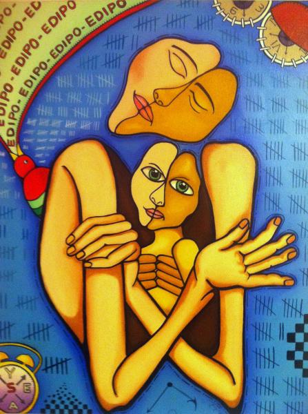 """Edipo""  2009   24""x 30""  Oil on canvas   Private collection"