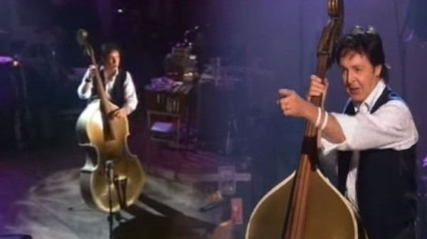 Paul McCartney sings 'Heartbreak Hotel' with Bill Blacks Upright Bass