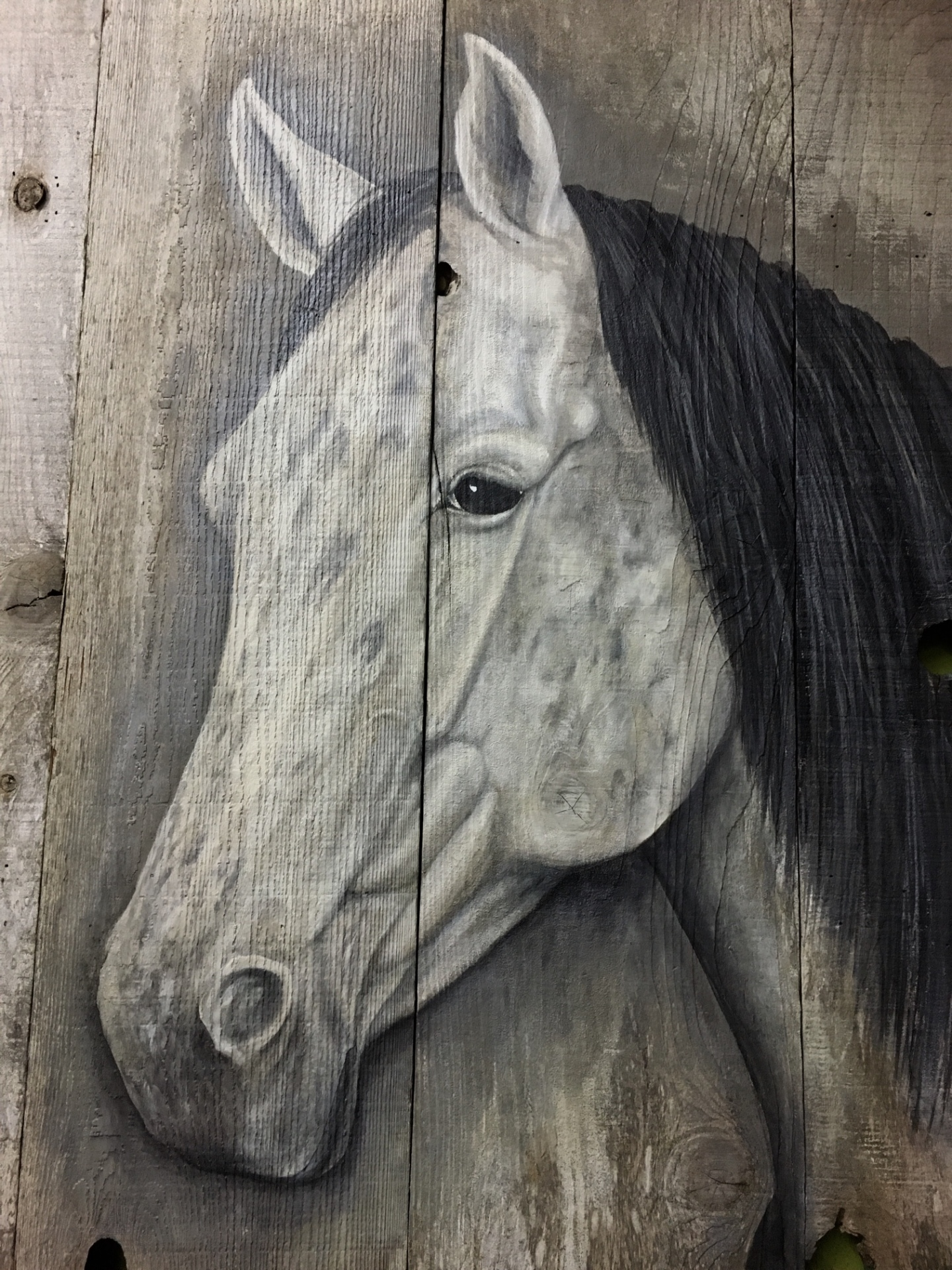 Horse painting commission, working with designers in Carmel, Rusty Croft
