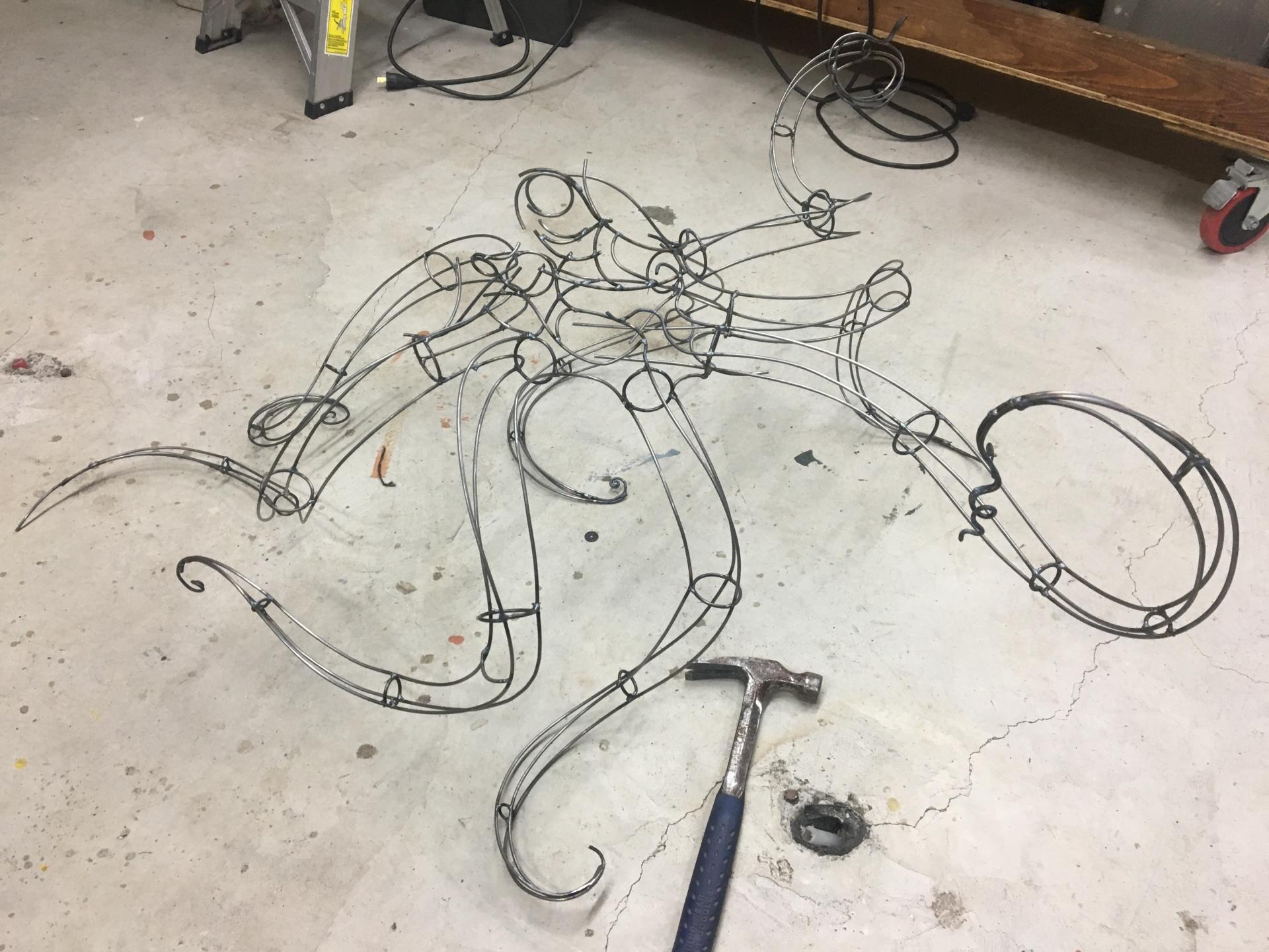 Octopus sculpture start