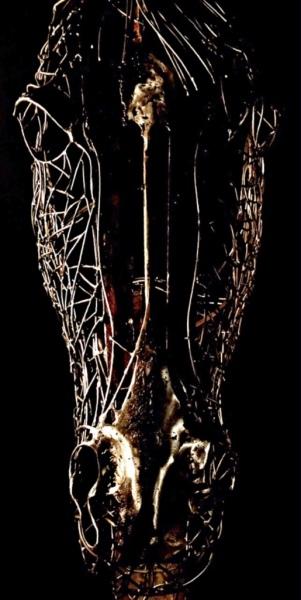 Welded horse sculpture, Rusty Croft