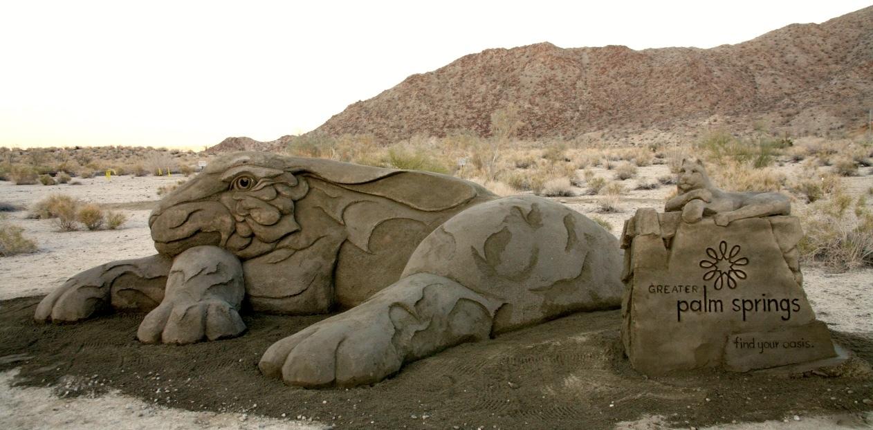 Coachella Valley sculpture, Palm Springs Wild Flower Festival, Rusty Croft