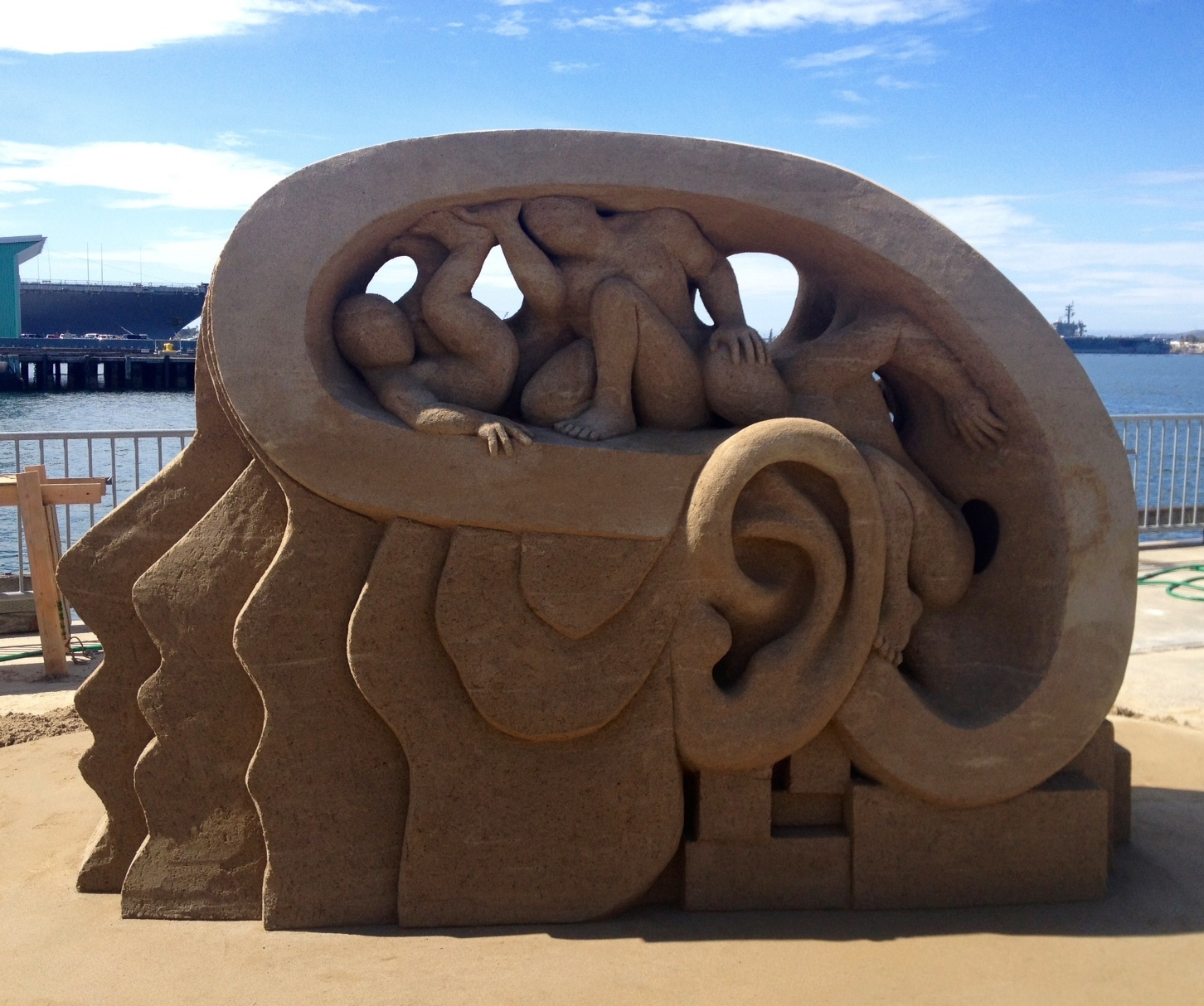 Sand Diego sand sculpture by Rusty Croft