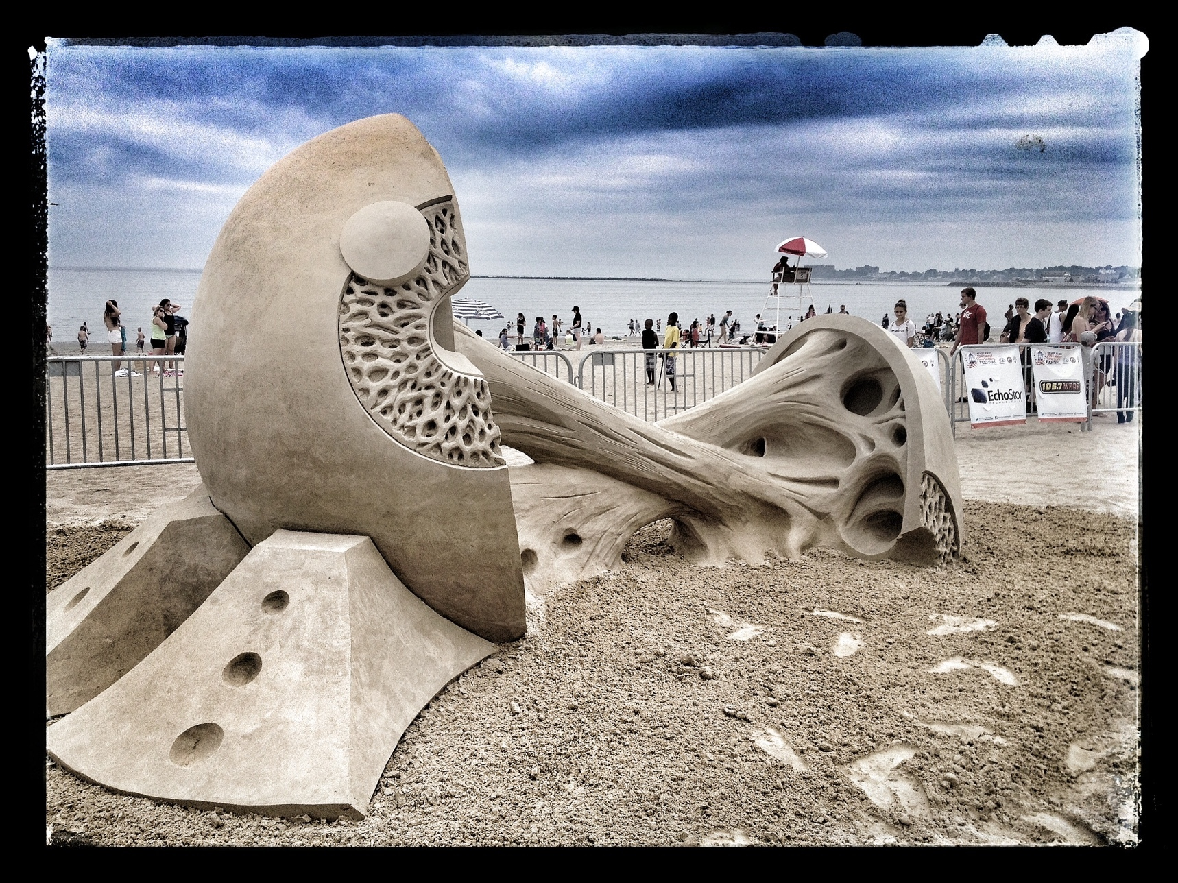 Revere Beach sand sculpture by Rusty Croft, 1st place
