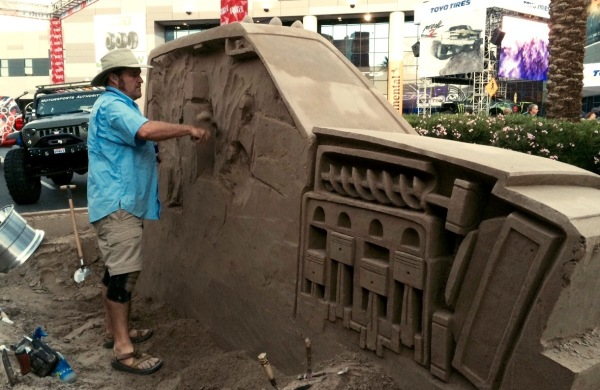 SEMA truck sand sculpture, Rusty Croft, Las Vegas, NV