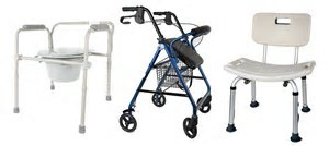 Commode, Rollator and Shower Chair