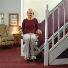 Stair lift (available in straight and curved)