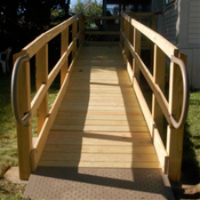 Wood ramp