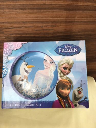 Disney FROZEN 3 Piece Dinnerware Set - Plate, Bowl & Cup Elsa $15.00