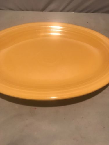 Fiestaware Persimmon Large Platter Fiesta Retired Yellow 12.5 in Serving Platter$22.00