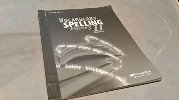 A Beka Vocabulary, Spelling, and Poetry II Grade 8, Quiz Key $5.00