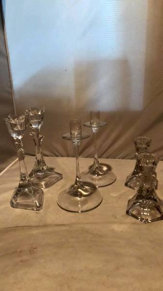 Lot of 3 candlesticks $25.00