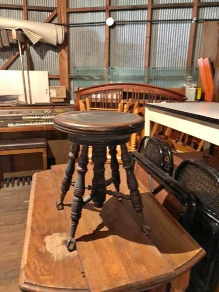 Glass claw foot organ/piano stool $30.00