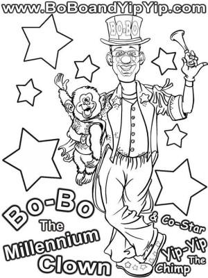 Bo-Bo Coloring Page 1