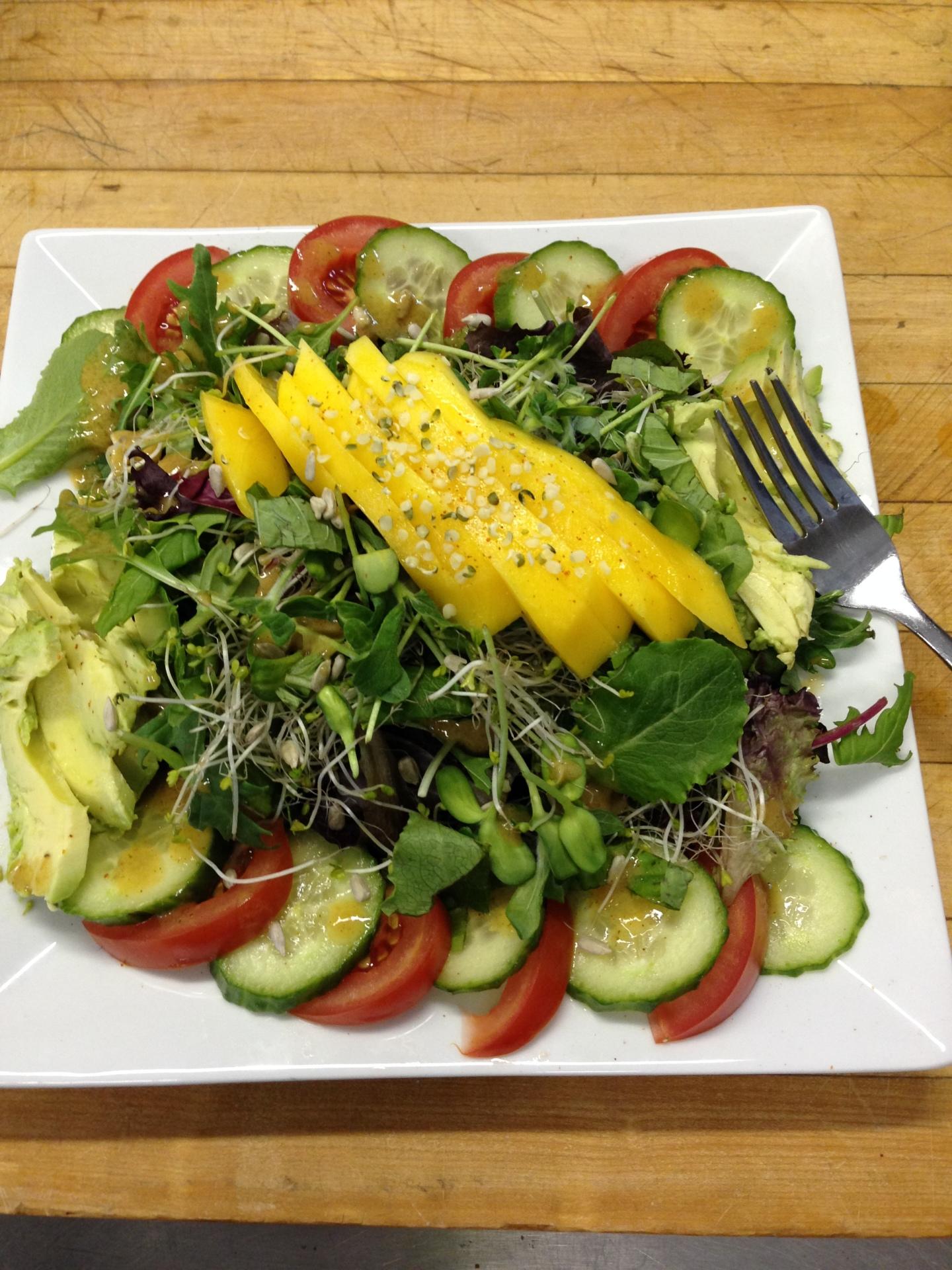 salad, fresh, raw, colorful, greens