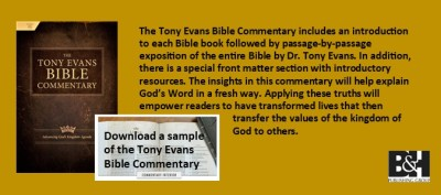 TONY EVANS BIBLE COMMENTARY Tony Evans (B&H Publishing Group)