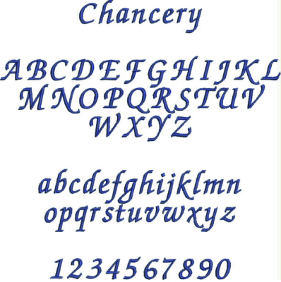 Embroidery Font #1