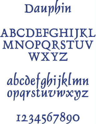 Embroidery Font #2