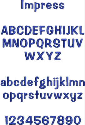 Embroidery Font #4
