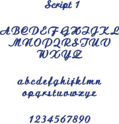 Embroidery Font #3