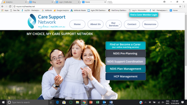 Welcome to the new Care Support Network website!