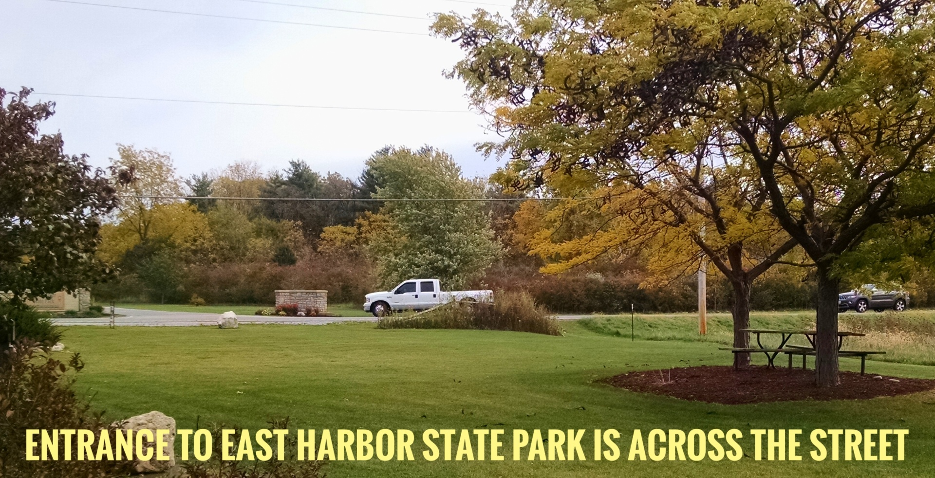 across from the State Park entrance