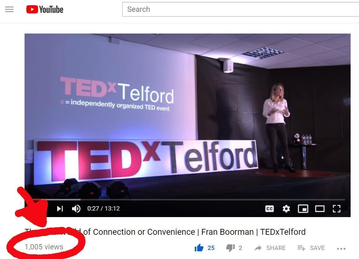 TEDtalk has 1000 in 3 days