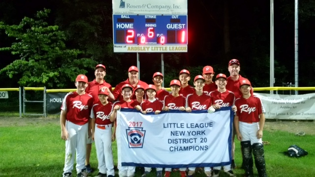Rye Wins 12U District Final