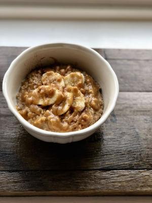 Easy PB & Banana Oatmeal