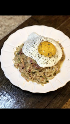 Zoodles Carbonara with Green Bean Delivery