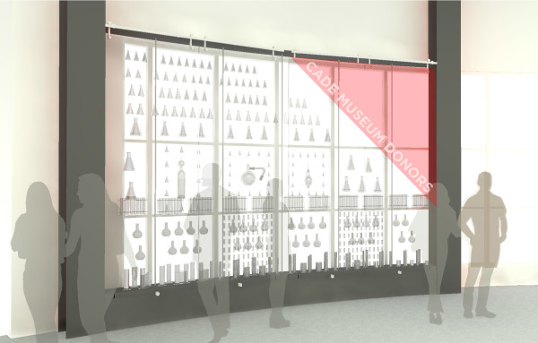 Chemistry glassware donor wall