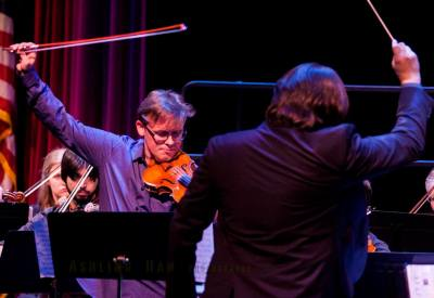 classical concert of first violin and conductor SMU professor