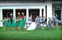 wedding group photo in Virginia with wonderful memory  gray with green color of wedding