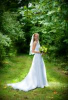 bride beautiful special photo with green as fairy