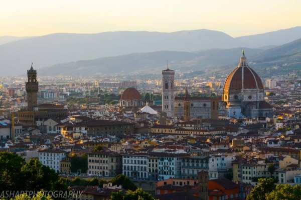 Italy Florence professional whole city architecture photography with stree