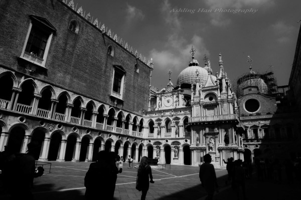 italy Venice chapel design professional architecture photography black and white