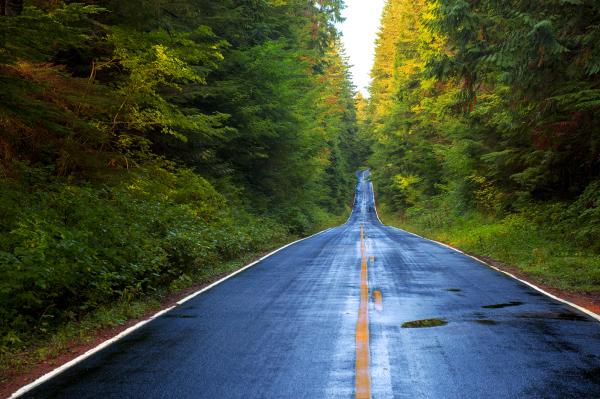American, country side, road, beautiful, rain, blue and green, fresh air