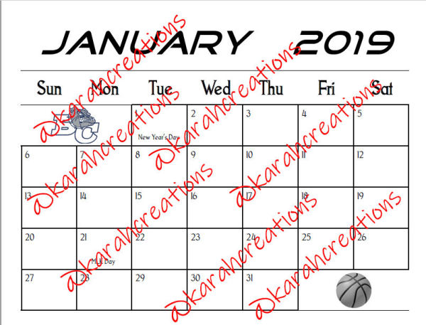 2019 Lady Bulldogs Calendar