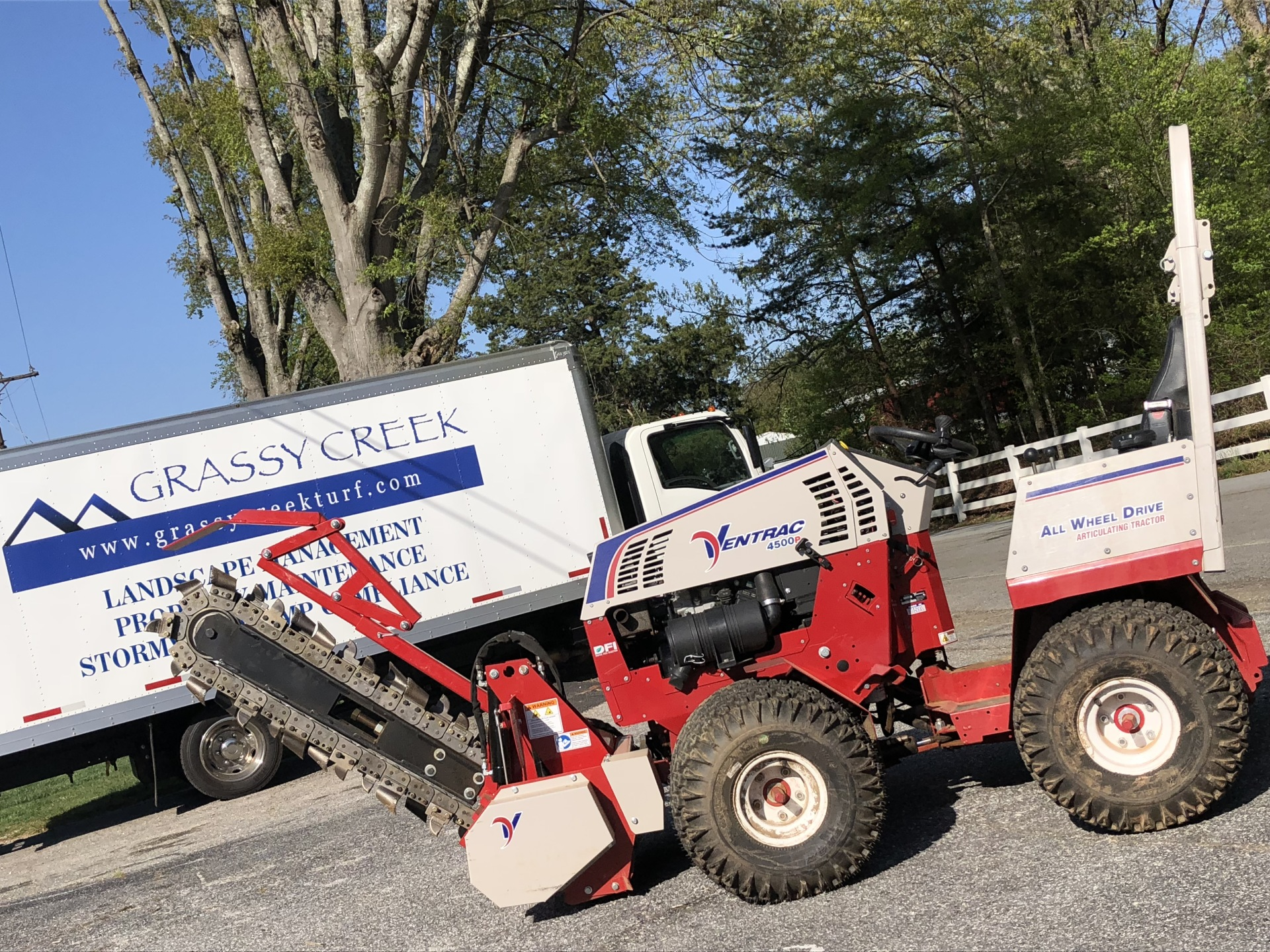 Grassy Creek Takes Delivery of Ventrac Trencher