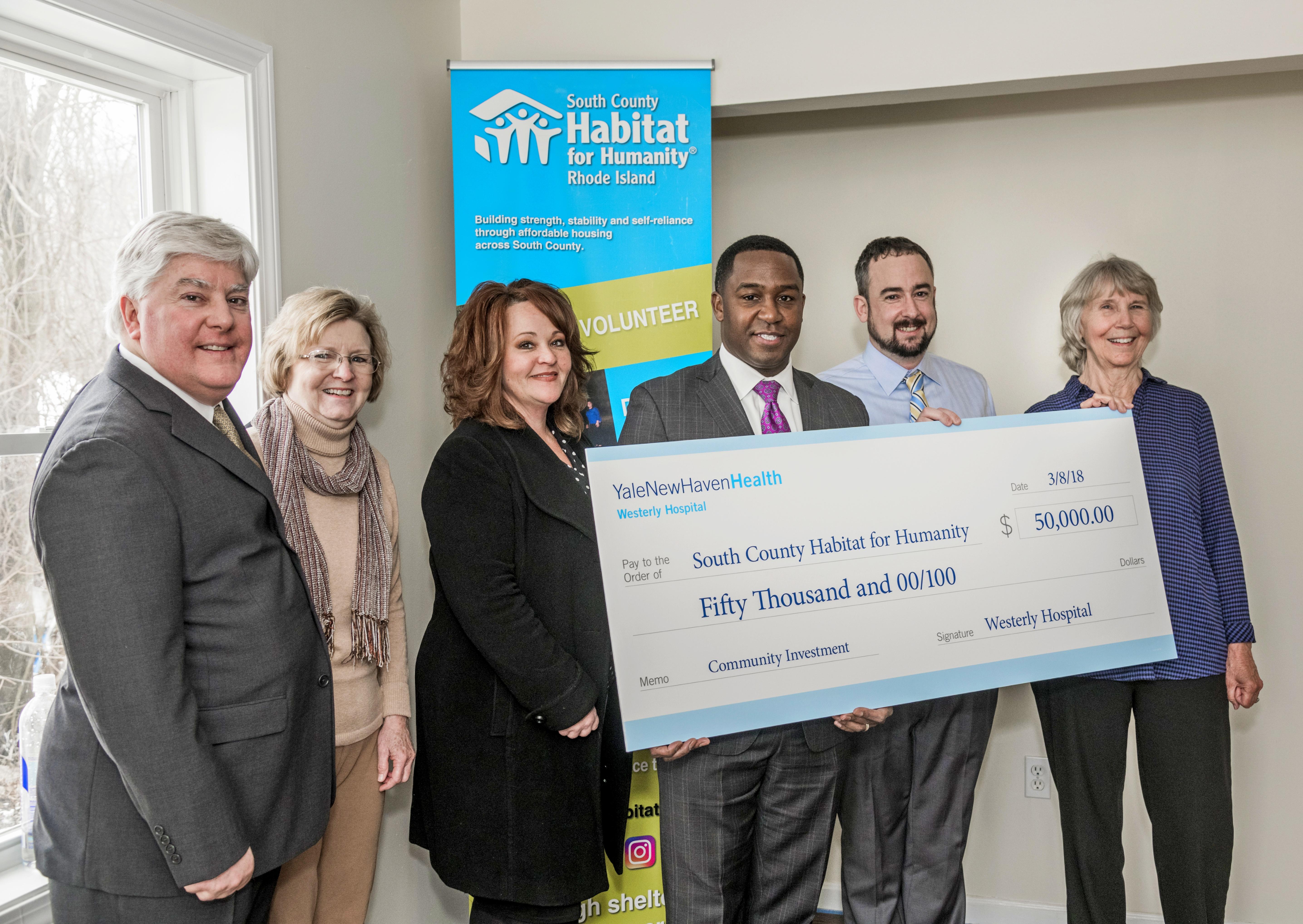 Westerly Hospital pledges $50,000