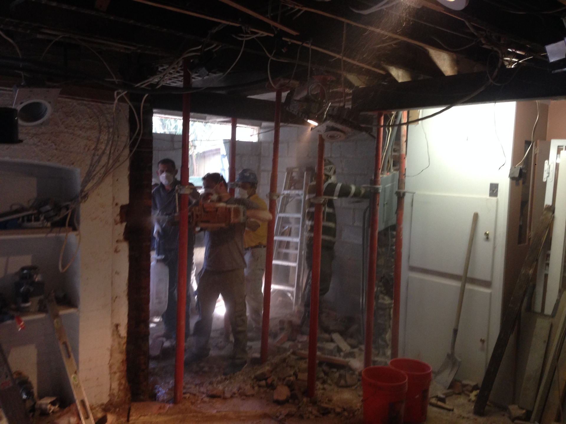 Basement Opening And Underpinning For A Kitchen And Dining