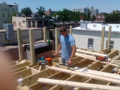 Beginning For The Roof Deck