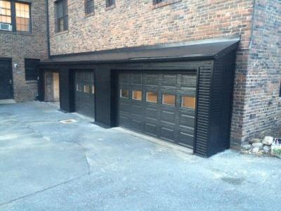 Completed Garage Doors With Kick Out