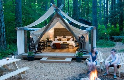 Luxury camping in Washington state