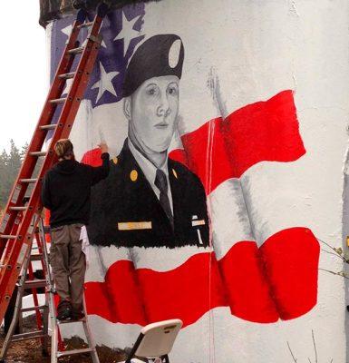 Sgt. Justin Norton mural