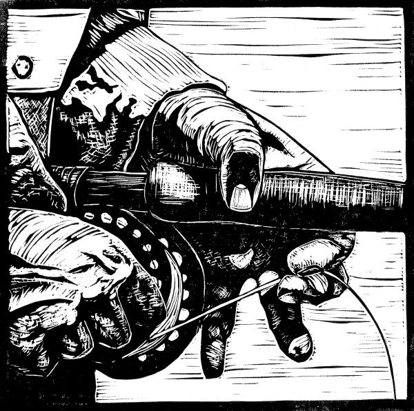 fishing hands
