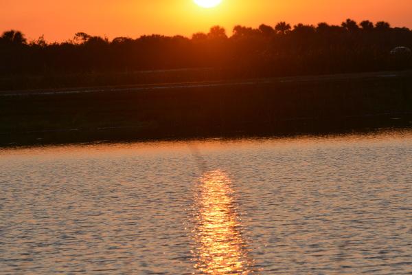 Sunset at Ritch Grissom Memorial Wetlands