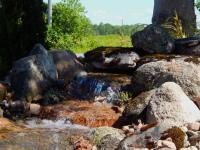 pondless waterfall, water features, garden design, Stirling Ontario
